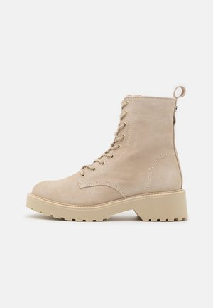 TORNADO - Lace-up ankle boots - beige