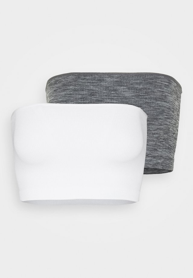 2 PACK - Top - light grey/white