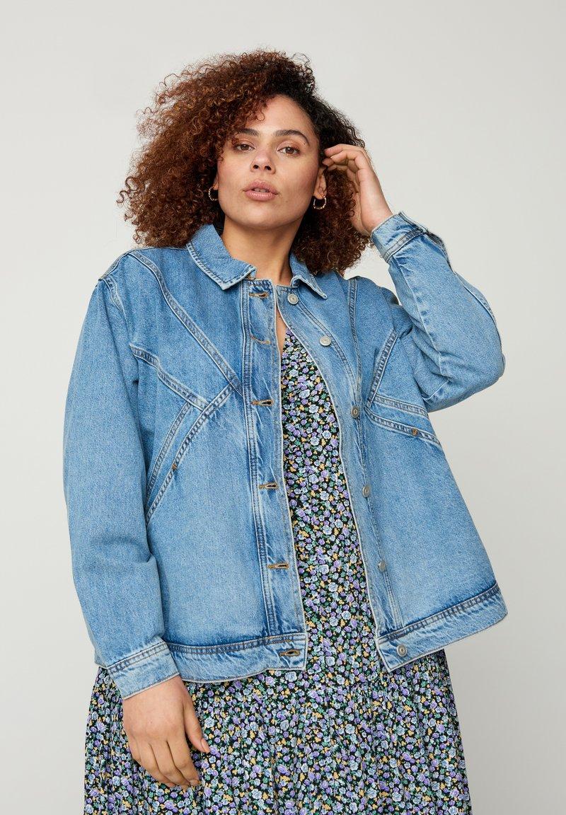 Zizzi - Denim jacket - light blue