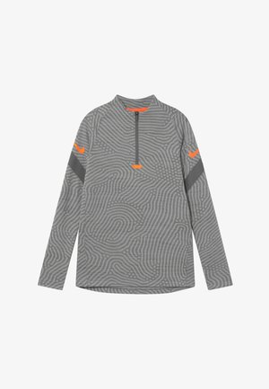 DRY STRIKE - Sports shirt - smoke grey/heather/total orange