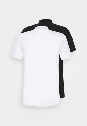 JPRBLA BASIC TEE TURTLE 2 PACK - T-shirt basic - white/black