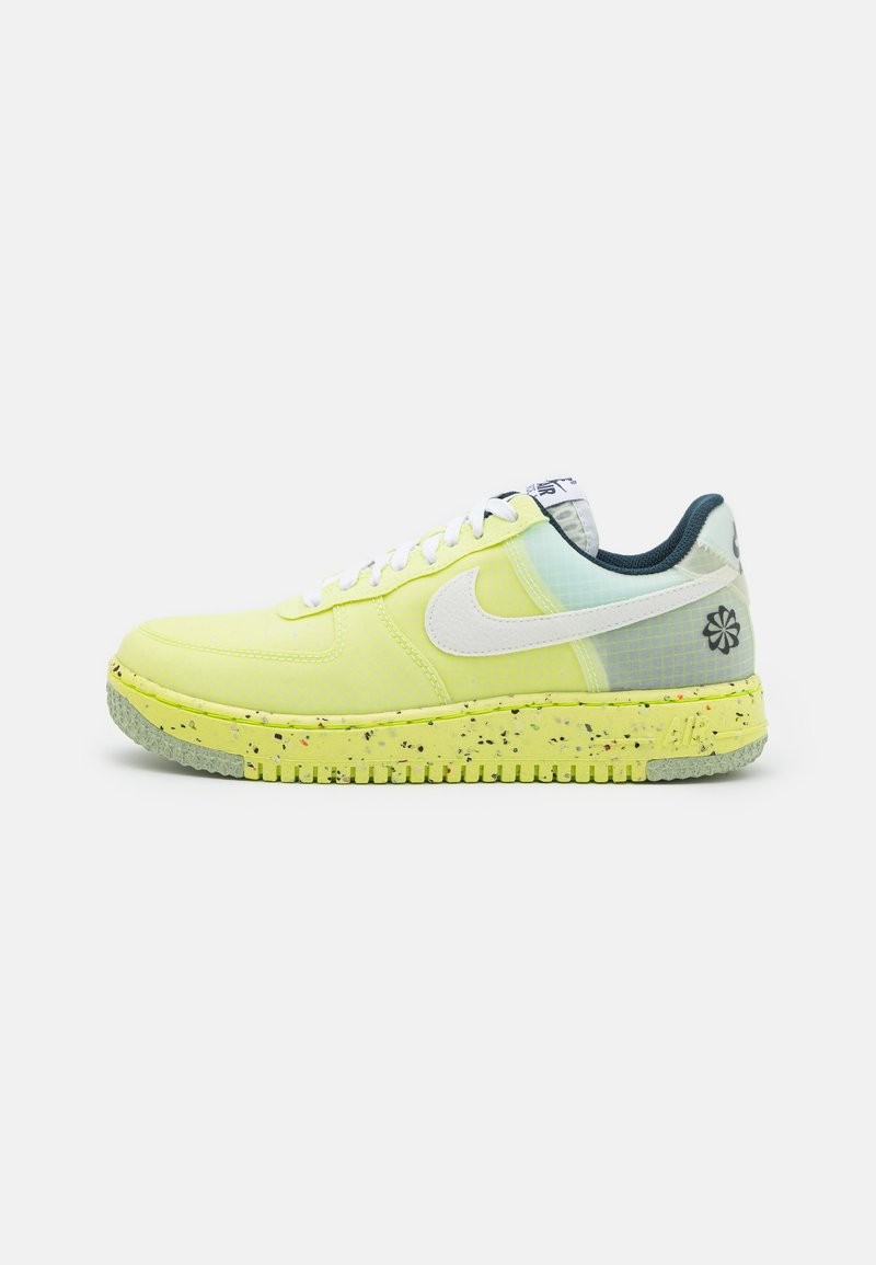 Nike Sportswear - AIR FORCE 1 CRATER  - Tenisky - light lemon twist/white/armory navy