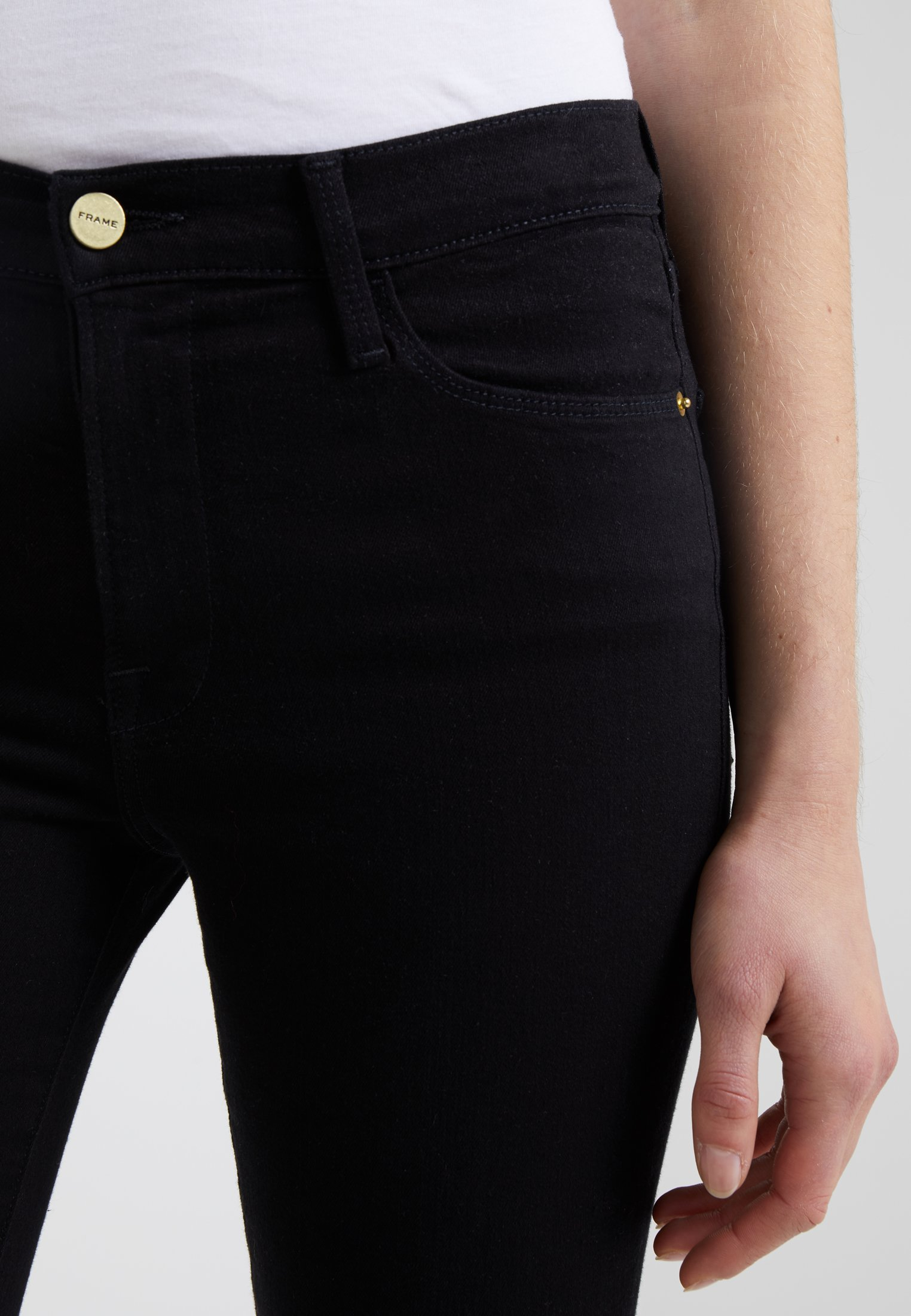 Limit Offer Cheap Women's Clothing Frame Denim LE HIGH Jeans Skinny Fit film noir HnzkElXn9