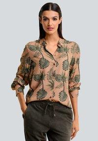 Alba Moda - Button-down blouse - karamell khaki - 0