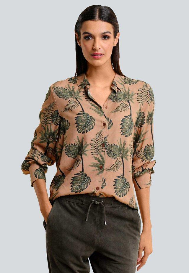 Button-down blouse - karamell khaki