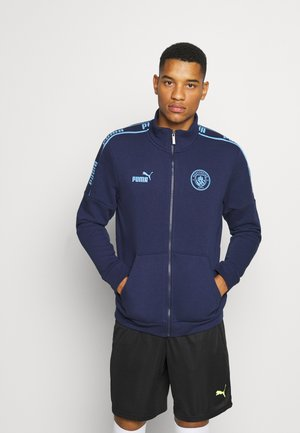 MANCHESTER CITY TRACK JACKET - Klubbkläder - peacoat/team light blue