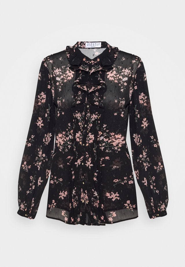 CERFEUIL - Blouse - black/rose