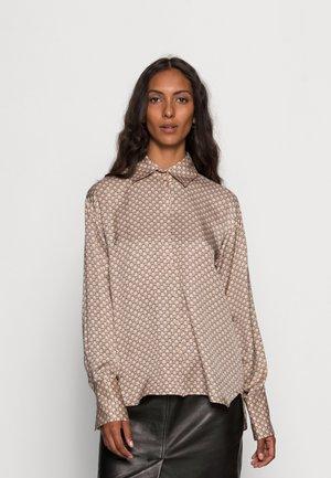 PAULINE - Button-down blouse - sandstone logo