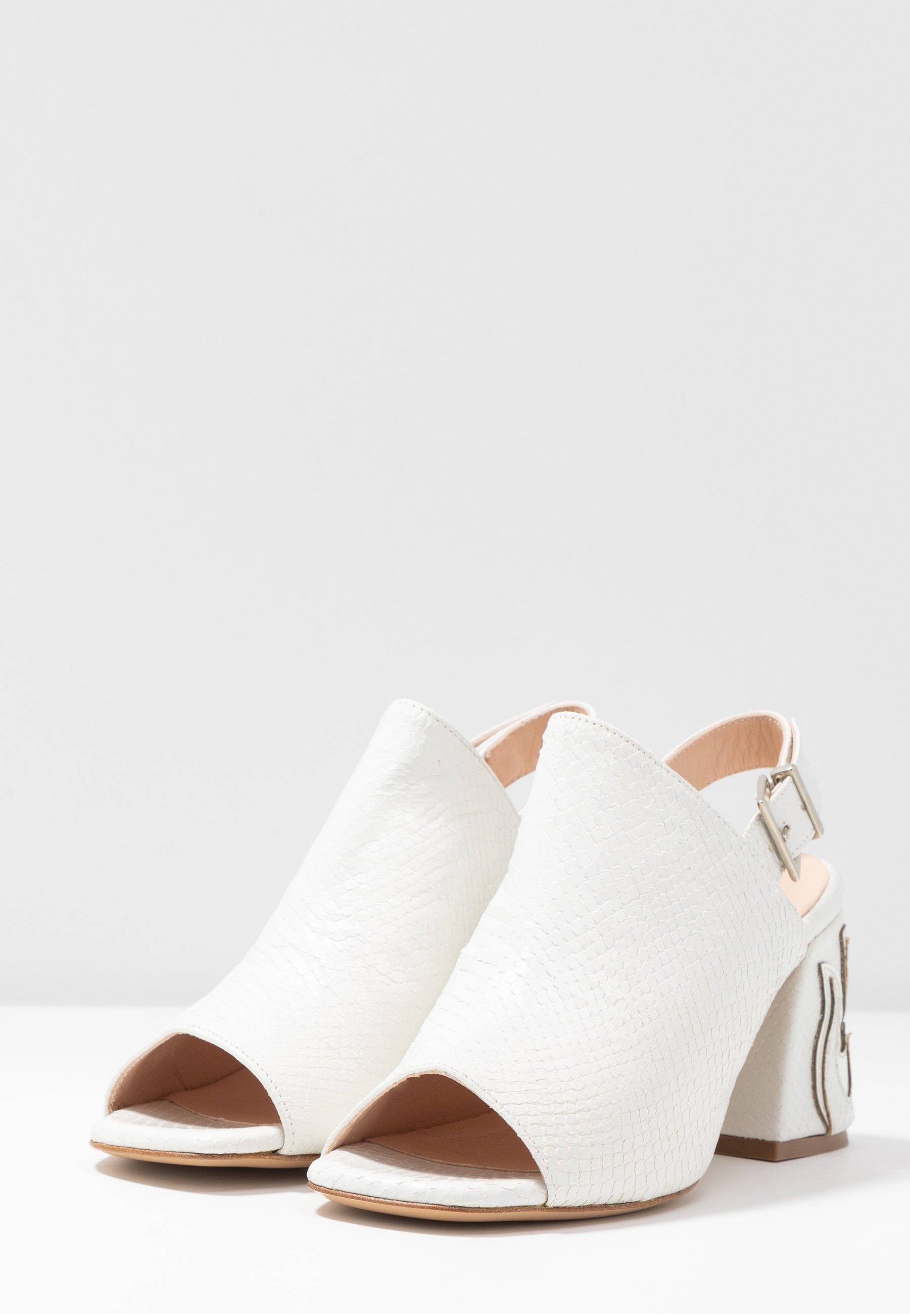 Pinko ORTICA STAMPA - Sandaalit nilkkaremmillä - bianco - Naisten kengät nGrdb