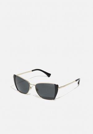 Sunglasses - shiny pale gold-coloured