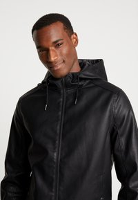 Pier One - Faux leather jacket - black - 3