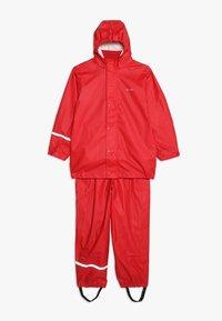 CeLaVi - BASIC RAINWEAR SUIT SOLID - Pantalones impermeables - red - 0