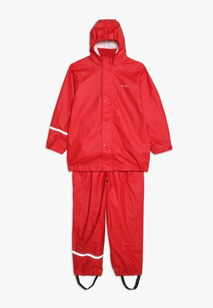 BASIC RAINWEAR SOLID SET UNISEX - Waterproof jacket - red