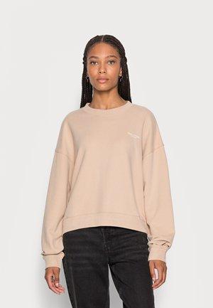 ROUND NECK MODERN COPPED FIT - Sweatshirt - blushed camel