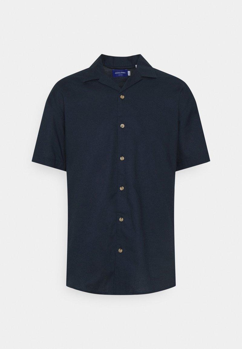 Jack & Jones - JORTOWER - Vapaa-ajan kauluspaita - navy blazer