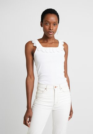 SQUARE NECK - Top - white