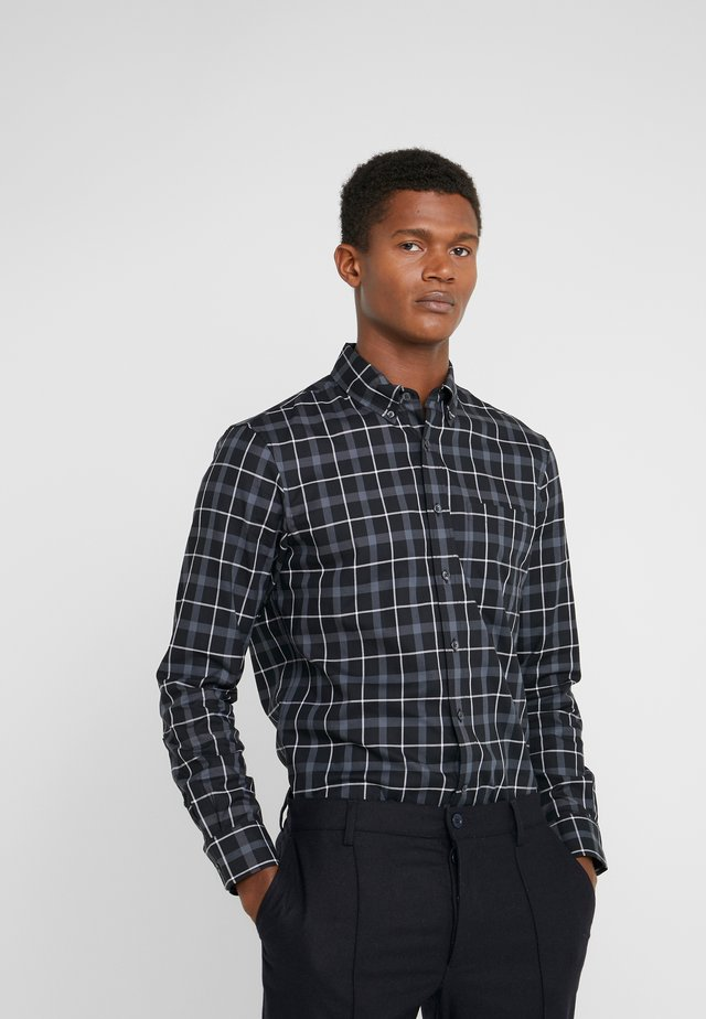 SLIM NOVEAU CHECK - Skjorte - soot black/multi