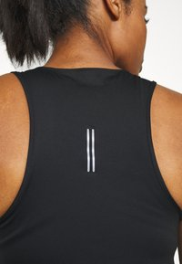 Nike Performance - CITY SLEEK TANK - T-shirt de sport - black/silver - 5