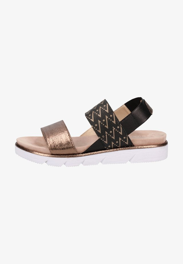 Sandalias - brown, white