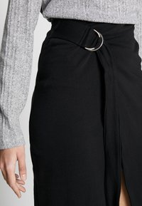 Noisy May Tall - WRAP SKIRT TALL - Pencil skirt - black - 4