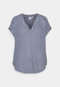 Print T-shirt - blue stripe