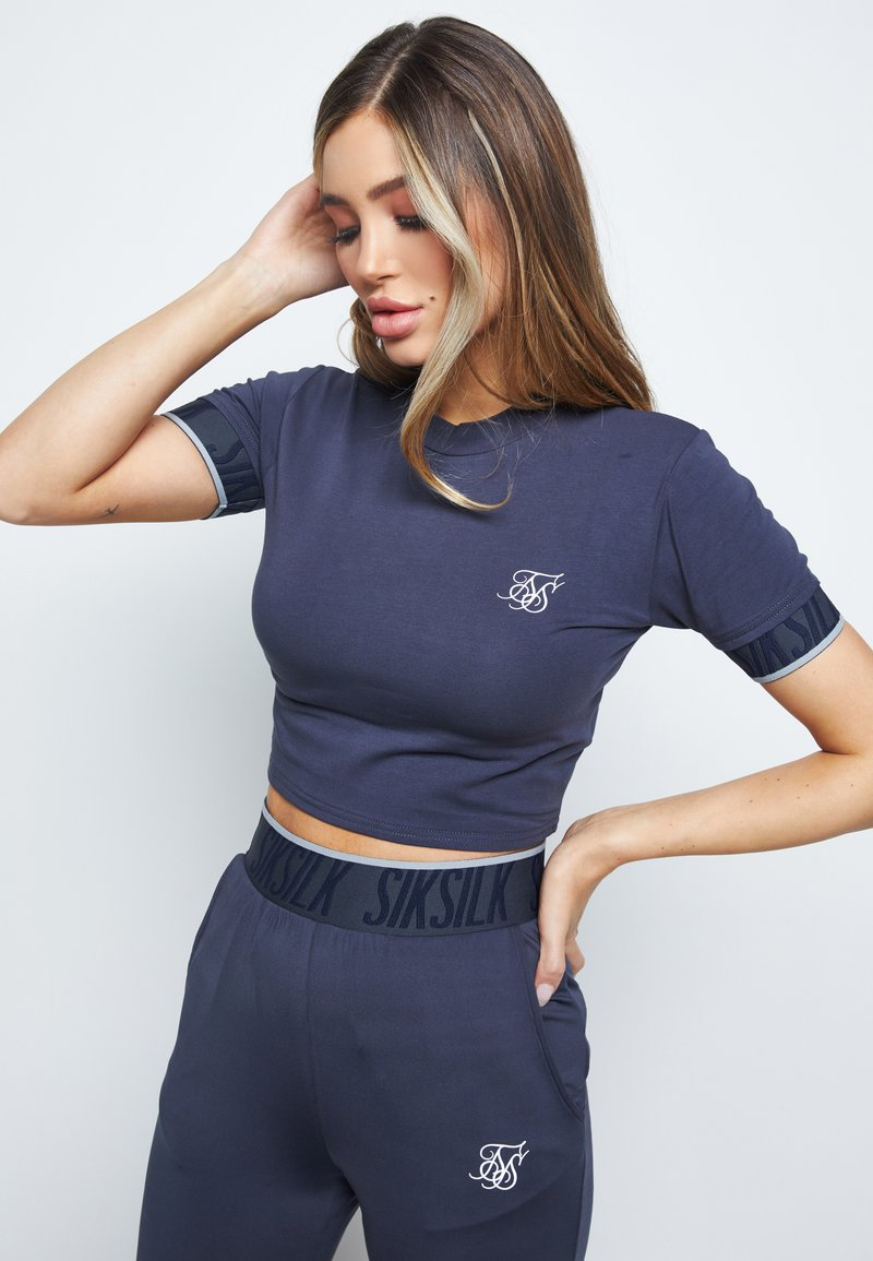 SIKSILK - GRAVITY  - Print T-shirt - navy