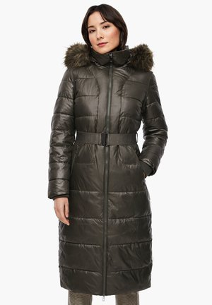 MIT LOGO-GÜRTEL - Winter coat - khaki