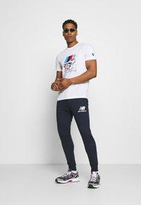 Puma - BMW VINTAGE TEE - Print T-shirt - white - 1
