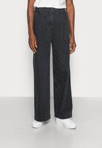 Samsøe Samsøe - GIANA TROUSERS - Relaxed fit jeans - black snow - 0