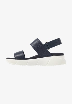 SPORTY  - Platform sandals - navy