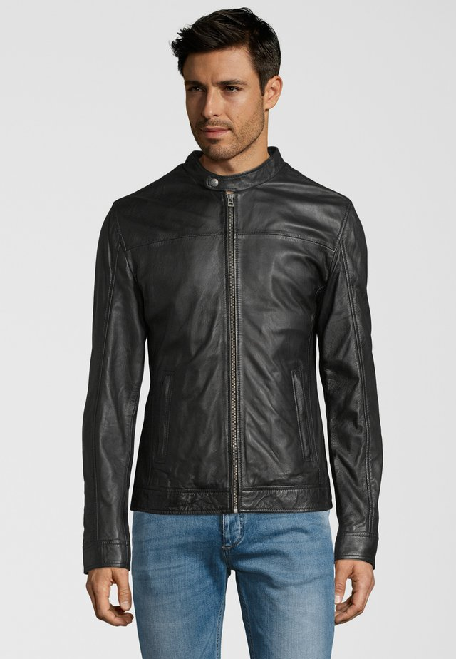 GALLERY - Leather jacket - black