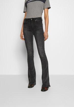3301 HIGH FLARE - Flared Jeans - worn in slate