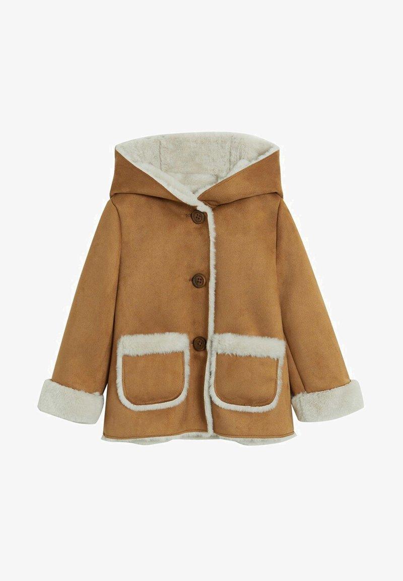 Mango - DOBLE7B - Zimní kabát - hnědá