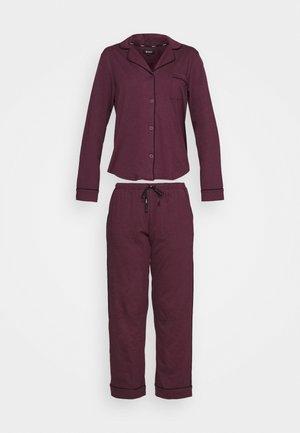NEW SIGNATURE - Pyjama set - burgundy