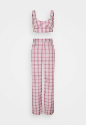 GINGHAM BRALET AND WIDE LEG  - Top - pink