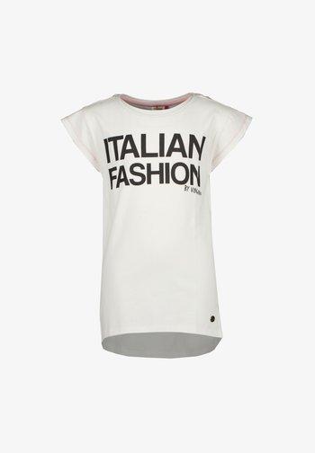 HOPISA - Print T-shirt - real white