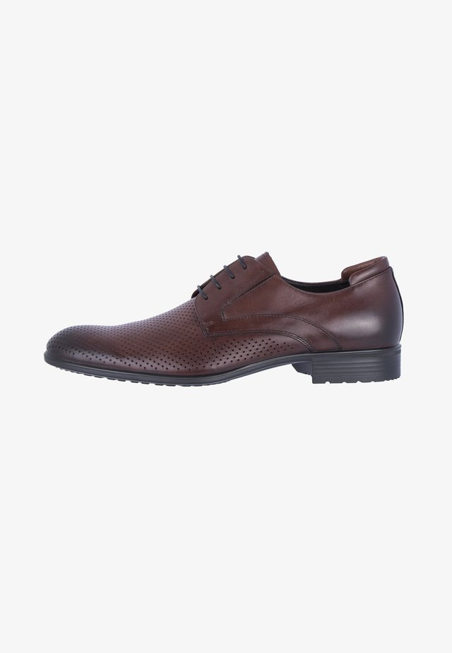 CLASSIC DERBIES - Veterschoenen - cognac
