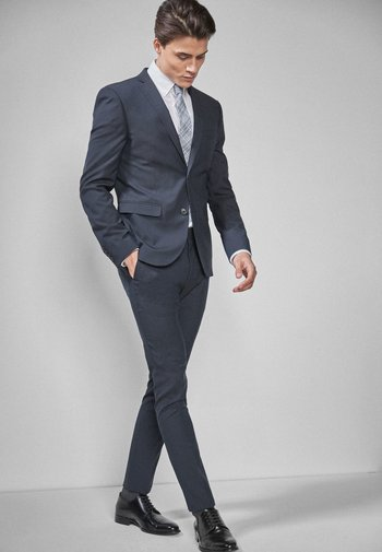 Oblekové kalhoty - mottled blue
