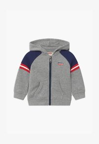 Levi's® - COLORBLOCK FULL-ZIP HOODIE - Mikina na zip - grey - 0