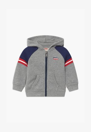 COLORBLOCK FULL-ZIP HOODIE - Felpa aperta - grey