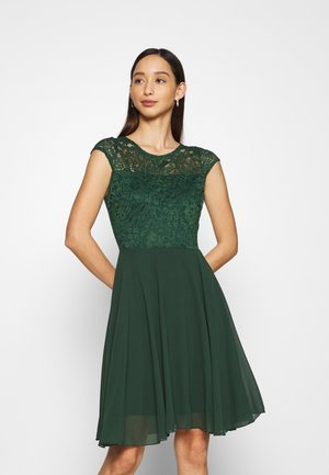 PEYTON SKATER DRESS - Cocktail dress / Party dress - forest green
