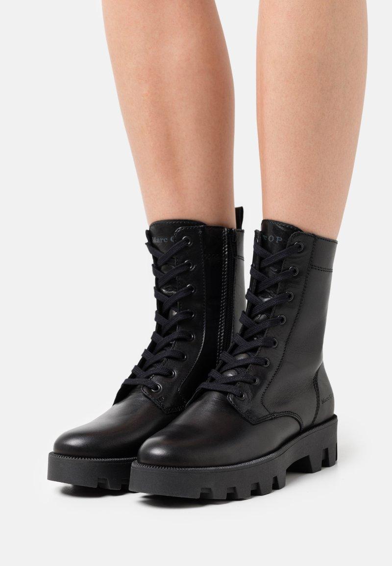 Marc O'Polo - PILAR  - Platform ankle boots - black