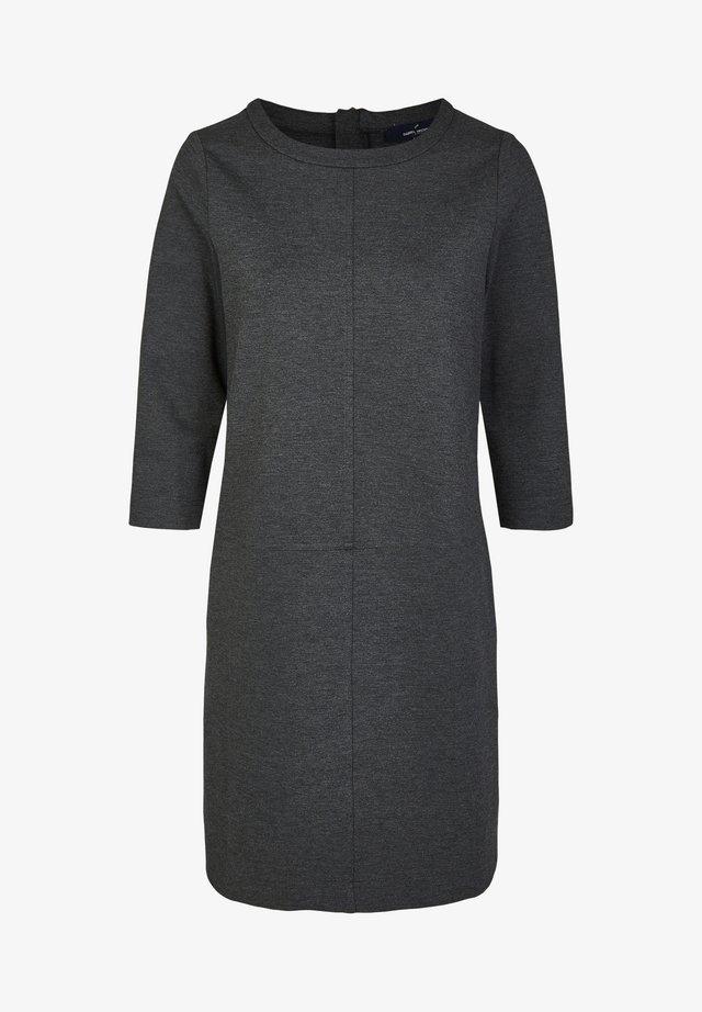 MIT VIELEN DETAILS - Jersey dress - anthrazit