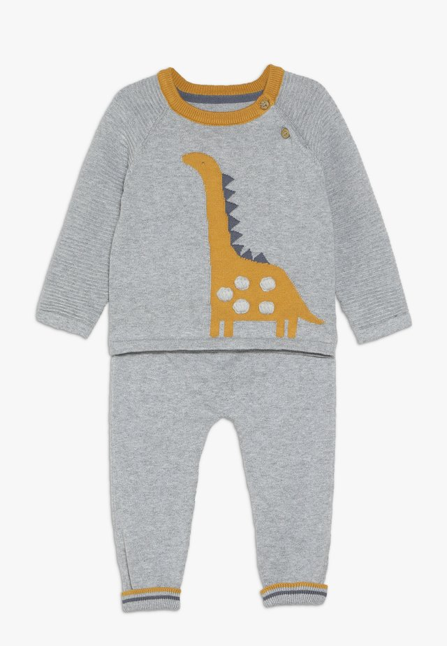 BABY DINO KNITTED SET - Neule - grey