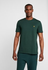 Lyle & Scott - CREW NECK  - T-shirt - bas - jade green - 0