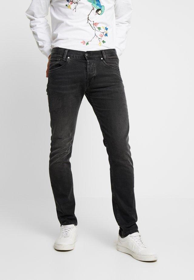 SPIKE - Jeansy Straight Leg - black denim
