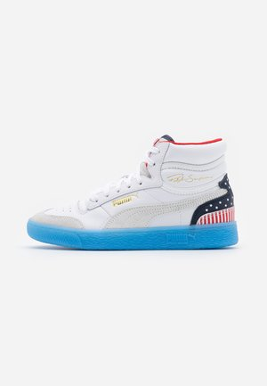 RALPH SAMPSON MID 4TH OF JULY - Höga sneakers - white/peacoat/high risk red