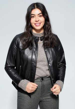CHELSEA - Leather jacket - black