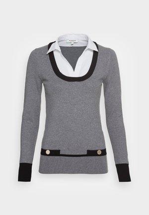 Strickpullover - gris/noir