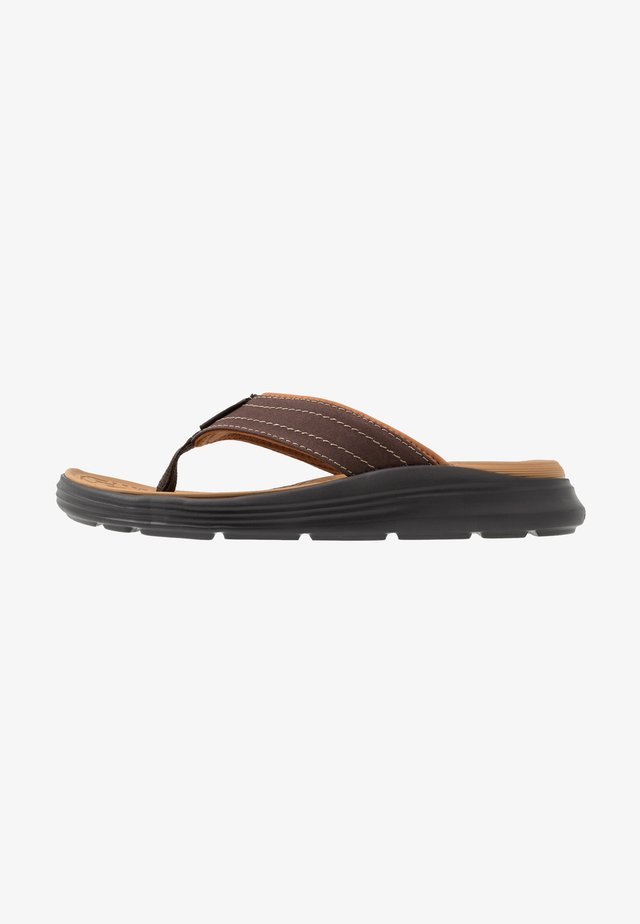 SARGO - T-bar sandals - chocolate